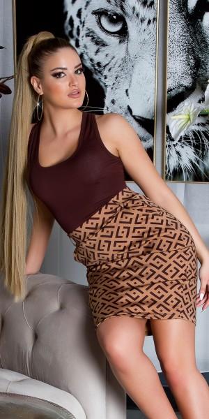 Sexy highwaistrock mit Print + gürtel