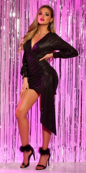 Sexy Party Langarm Minikleid