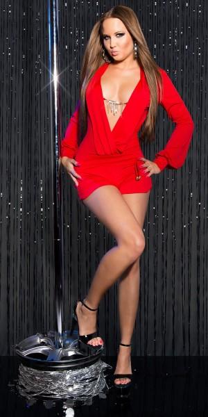 Sexy KouCla Overall kurz mit Kette