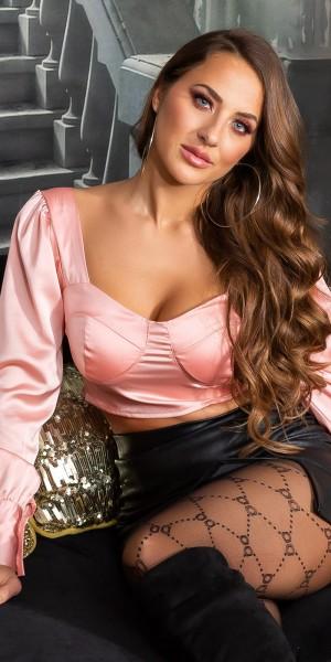 Sexy Koucla Satin-Look Crop Top
