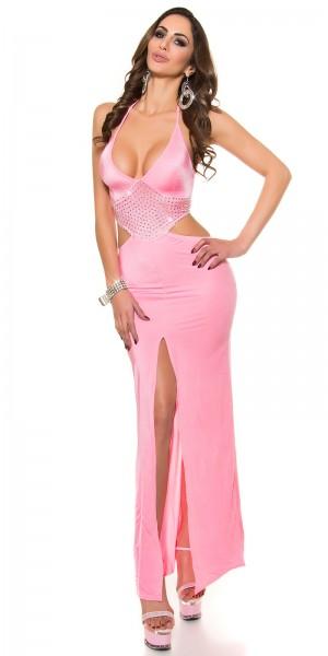 Sexy Kleid mit Schlitz und V-Ausschnitt