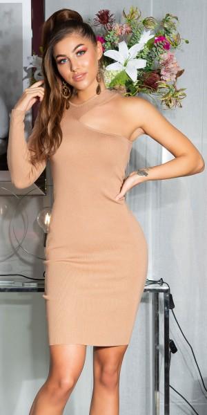 Sexy Bodycon One-Shoulder Kleid