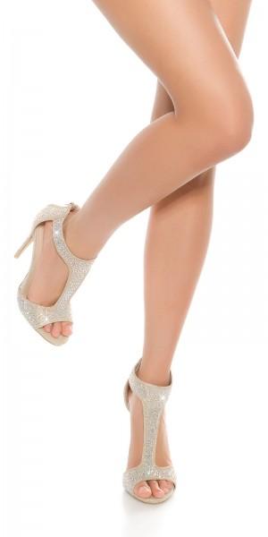 Sexy High Heel Fesselriemchen Sandalette