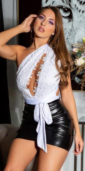Sexy Rückenfreier Body mit Tiefem V-Ausschnitt