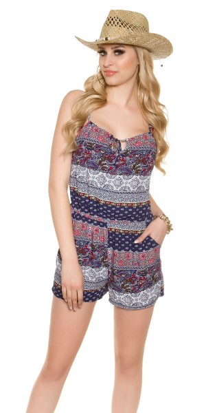 Sexy Sommer Playsuit mit Paisleyprint