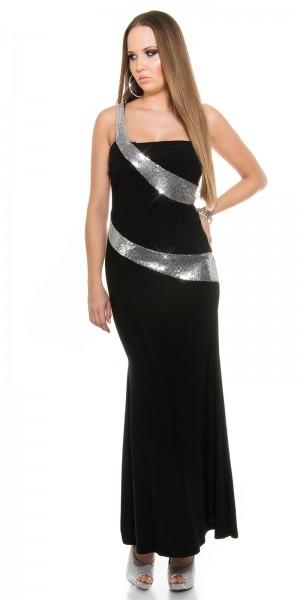 Sexy One-Shoulder Kleid mit Pailletten